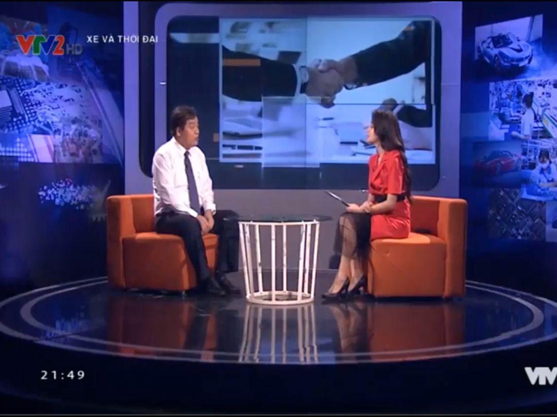 Hiệu trưởng trả lời phỏng vấn VTV2 về : Giải pháp phát triển nguồn nhân lực cho ngành công nghiệp phụ trợ