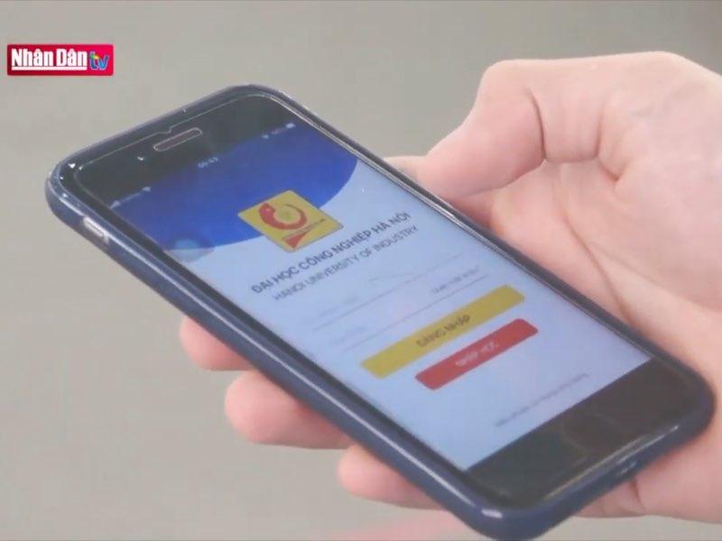 Phóng sự Mô hình đại học điện tử tại Trường Đại học Công nghiệp Hà Nội phát sóng trên Truyền hình Nhân dân