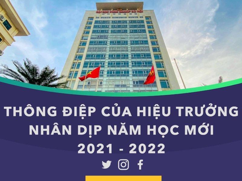 Thông điệp của Hiệu trưởng nhân dịp năm học mới 2021 - 2022